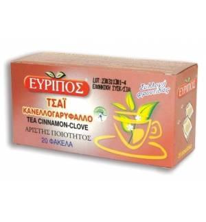 Κανελλο-γαρύφαλλο Τονωτικό Τσάι Εύριπος 20 Φάκελα Φυσικό Προϊόν