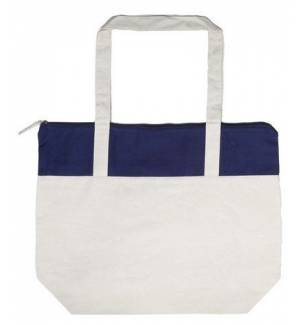 UBAG Paris τσάντα, Δίχρωμη βαμβακερή τσάντα αγορών με εσωτερική τσέπη διαστάσεων 18 x 17,5εκ.