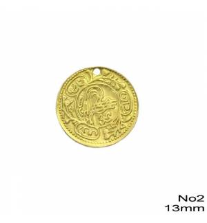 100pcs Brass Coin for Greek traditional costumes No2/13mm 0.51inches MARK795 coins