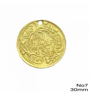 25pcs Brass Coin for Greek traditional costumes No7/30mm 1.18inches MARK796 coins