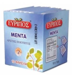 Τσάι Μέντα Εύριπος 10 Φάκελα Φυσικό Τονωτικό Προϊόν Άριστης Ποιό