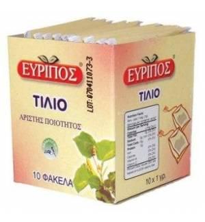 Τσάι Τίλιο Εύριπος 10 Φάκελα Φυσικό Χαλαρωτικό Προϊόν Άριστης Πο