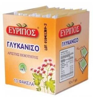 Τσάι Γλυκάνισο Εύριπος 10 Φάκελα Φυσικό Χαλαρωτικό Προϊόν Άριστη