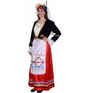 Greek Traditional Costume Corfu Kerkyra Female Woman MARK752