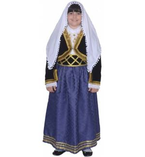 Greek Traditional Costume CRETAN Girl Chania 1 Kritikopoula MARK771