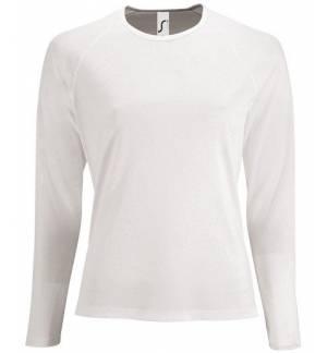 Sol's Sporty LSL Women Λευκό 02072 Γυναικείο μακρυμάνικο αθλητικό Τ-shirt