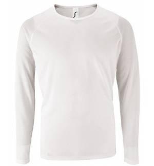 Sol's Sporty LSL Men Λευκό 02071 Ανδρικό μακρυμάνικο αθλητικό Τ-shirt