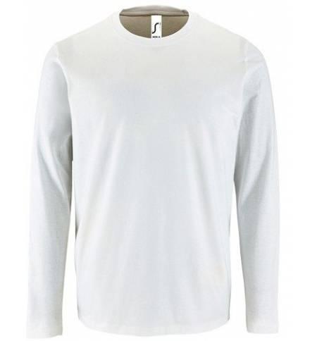 69e6f9d342a Sol's Imperial LSL Men White 02074 Men's round collar T-shirt long-sleeves