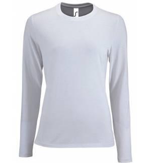Sol's Imperial LSL Women Λευκό 02075 Γυναικείο μακρυμάνικο T-shirt
