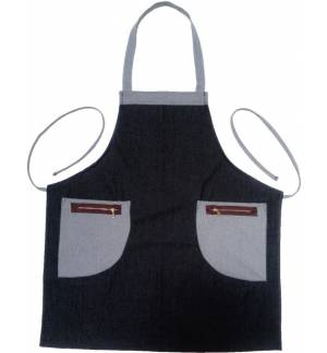 Black Jeans Apron 100% cotton cross-linking with a ring at the back MARK767