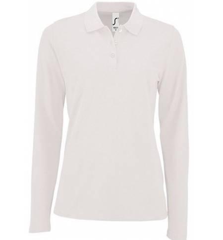 Sol's Perfect LSL Women Λευκό 02083 Γυναικείο μακρυμάνικο πόλο πικέ