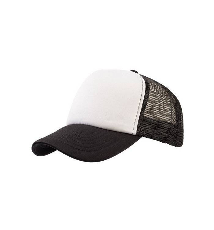 3dd61b36f690 839 Καπέλο με δίχτυ τύπου trucker 100% πολυέστερ με σφουγγάρι στο γίσο και  στο μέτωπο