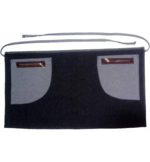 Μαύρη Ποδιά μέσης Τζίν 100% βαμβάκι με δύο τσέπες MARK800