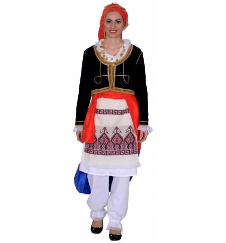 magazin marca faimoasa clasic Greek Traditional Costume Kritikopoula WOMEN CRETAN GIRL CODE MARK558