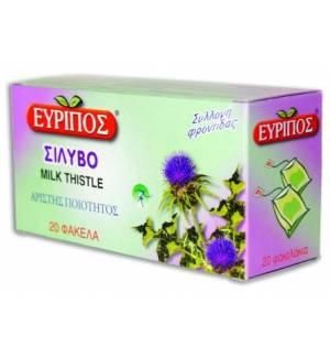 Σίλυβο (Γαϊδουράγκαθο) Εύριπος 20 φάκελα 0.84oz Φυσικό Ελληνικό