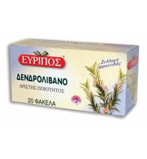 Δενδρολίβανο Εύριπος 20 φάκελα 30gr 1.05oz Φυσικό Ελληνικό Τσάι