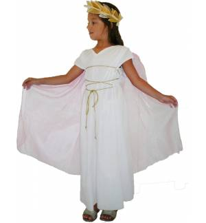 Greek Traditional Costume ANCIENT GREEK GIRL 6-12Years With Cape