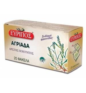 Αγριάδα Εύριπος 20 φάκελα 24gr. 0.84oz Φυσικό Τσάι Άριστης Ποιότ