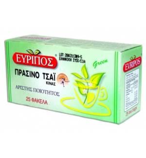 Πράσινο Τσάι Εύριπος 25 Φάκελα Φυσικό Προϊόν Άριστης Ποιότητος