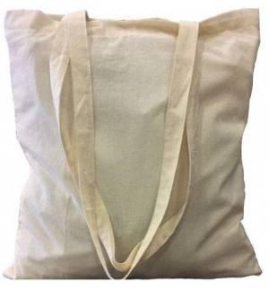 Οικολογική Τσάντα Αγοράς με Μακριά Χερούλια 100% cotton 38x42εκ.