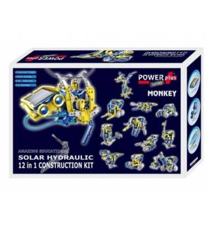 POWERplus Monkey Solar Hydraulic 12 in 1 Construction Toy Set