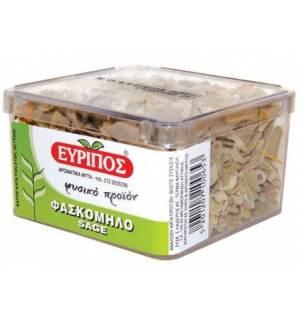 Φασκόμηλο Εύριπος Κυτίο 20gr 1.4oz Φυσικό Ελληνικό Προϊόν Άριστη