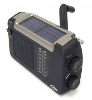 AM FM Επαναφορτιζόμενο Δυναμό Ηλιακό USB ΡΑΔΙΟ PowerPlus Cheetah