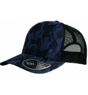 Atlantis 887 Rapper Camou, εξάφυλλο καπέλο τζόκεϋ και κλείσιμο με PVC.