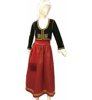 Greek Traditional Costume CRETAN WOMEN Handmade Embroidery XS-XL Kritikopoula MARK804