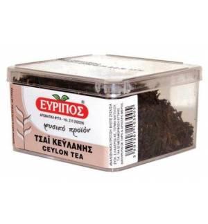 Κλασικό Μαύρο Τσάι Κεϋλάνης Εύριπος Κυτίο 40γρ Φυσικό τονωτικό