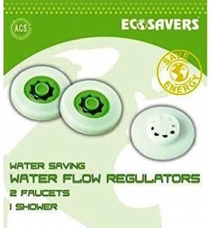 Έξυπνοι μειωτήρες ροής νερού. Σετ για 2 βρύσες Και 1 Ντους