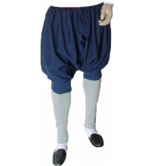 Blue Wool Island Men Pants Greek Traditional trousers MARK809 S-XL Costumes Accessory Accessories