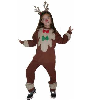 Christmas Carnival Halloween Costume kids Reindeer Rudolph fawn