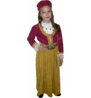 Greek Traditional Costume Amalia GOLD 6-14 Years old MARK574