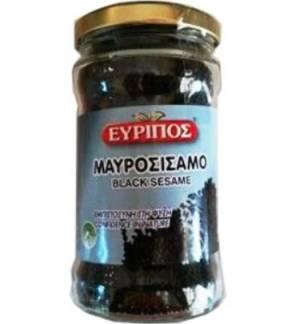 Μαυροσίσαμο Μαυροσήσαμο Μαύρο Σουσάμι Εύριπος 150gr Γυάλινο Βάζο