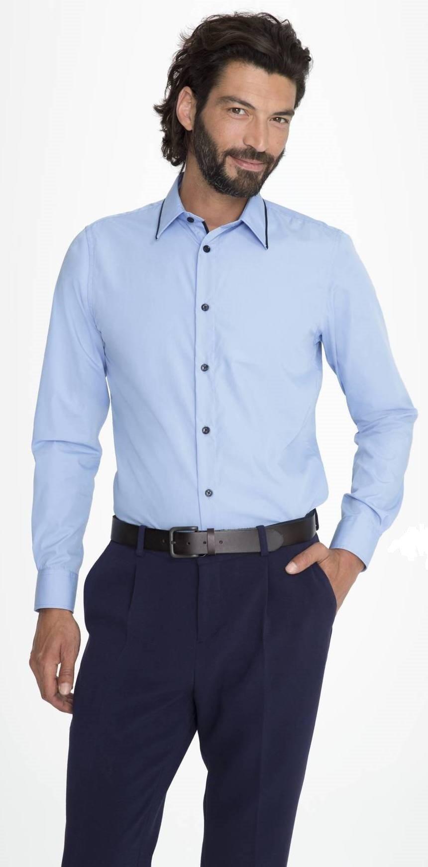 0c6428b29343 Sol s Baxter men 00567 Ανδρικό μακρυμάνικο πουκάμισο σε στενή γραμμή