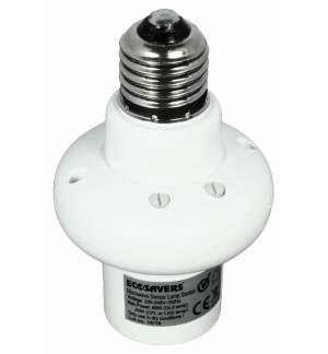 EcoSavers® Microwave Lampbase E27 Automatic Lamp Base with Sensor