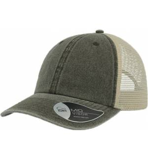 Atlantis 891 Case 6-panels pigment dyed trucker cap Hat jockey