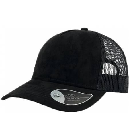 Atlantis 898 Rapper Suede 5 panels jockey cap hat 100% Polyester