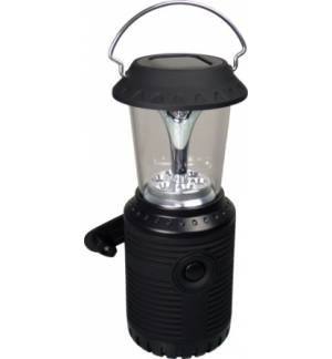 POWERplus Owl Ηλιακό & με Δυναμό Φανάρι Camping με 6 LED