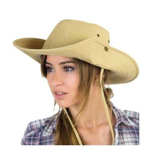 Atlantis Atlantis Ranger Western cap Adventure hat 100% Cotton twill