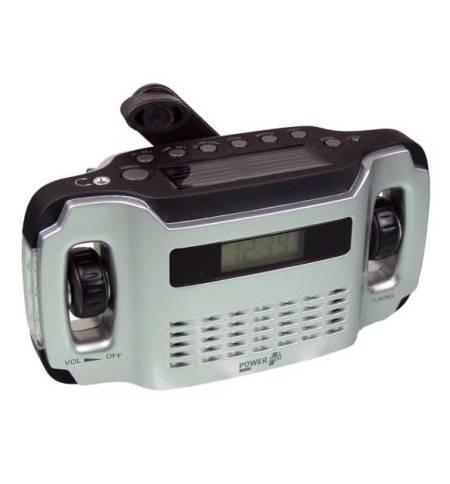 PowerPlus LYNX Ηλιακό Δυναμό USB Ψηφιακό Ράδιο Φακός Ρολόι Φορτι