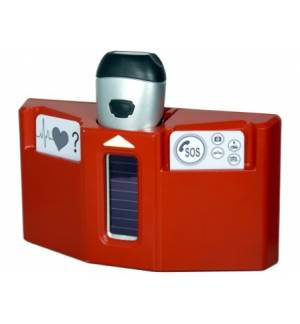 PowerPlus Husky Ηλιακός Δυναμό Φακός Έκτακτης ανάγκης με Βάση &