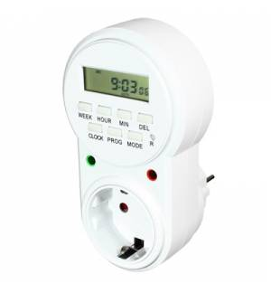 Week Timer, Digital Time Switch, 230v, EU Plug Setting Weekly Sw