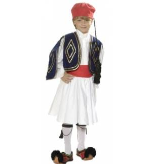 Greek Traditional Costume TSOLIAS 8-12 years old MARK562