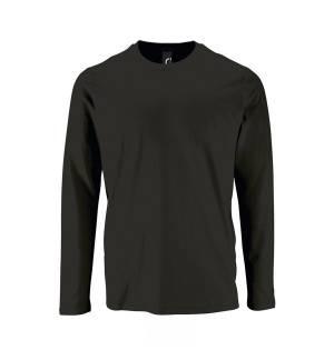 Sol's Imperial LSL Men White 02074 Men's round collar T-shirt long-sleeves