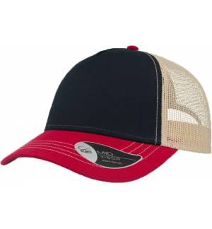 Atlantis 899 Rapper Canvas καπέλο Πεντάφυλλο τζόκεϊ με δίχτυ 100% Βαμβακερός Καμβάς 260g
