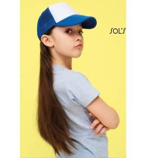 Sol's Bubble Kids - 03091 Παιδικό Πεντάφυλλο καπέλο με δίχτυ τζόκεϊ με σφουγγάρι