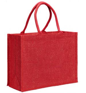 UBAG CORTINA Τσάντα αγοράς από γιούτα και χρυσή κλωστή 100% Jute 42x33x19εκ.