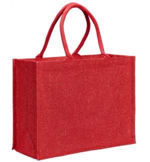 UBAG CORTINA Glitter lurex jute shopping bag with inside coating 100% Jute 42x33x19cm